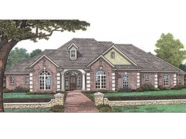 Ranch Home Plan, 002H-0027