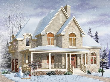 Two-Story Home Design, 027H-0197
