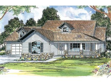Country Craftsman Home, 051H-0024