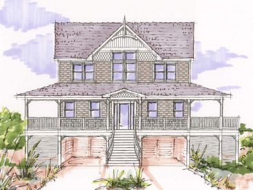 Beach House Design, 041H-0088