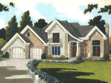 European House Plan, 046H-0135