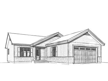 Small Ranch Home Plan, 027H-0420