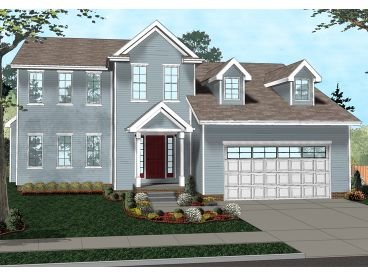 Colonial House Plan, 050H-0111