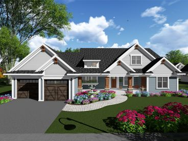 Craftsman House Plan, 020H-0411