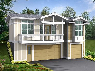 Garage Apartment Plan, 035G-0010