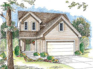 Narrow Lot House Plan, 050H-0050