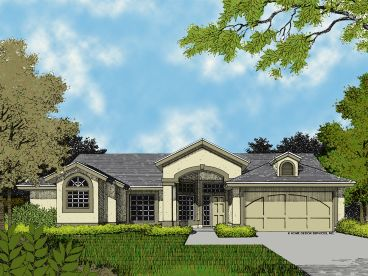 Stucco Home Plan, 043H-0065
