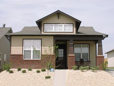 Empty-Nester Bungalow Home Plan, 073H-0113