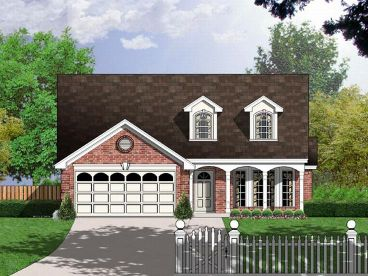 Narrow Lot Home Plan, 015H-0030