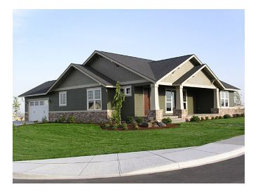 Ranch Home Plan, 034H-0067
