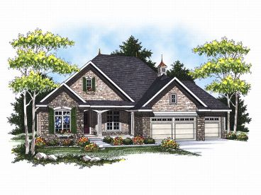 European House Plan, 020H-0138