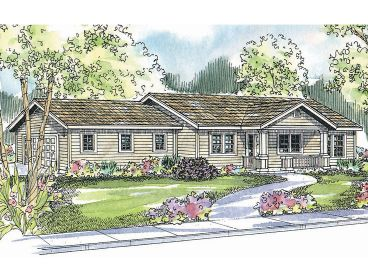 Ranch House Plan, 051H-0109