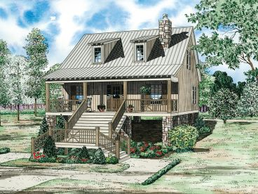 Bungalow Home Plan, 025H-0173
