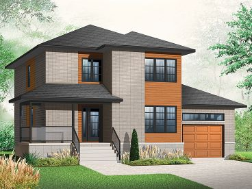 Affordable House Plans   Contemporary Two Story Affordable Home    Contemporary Home  H