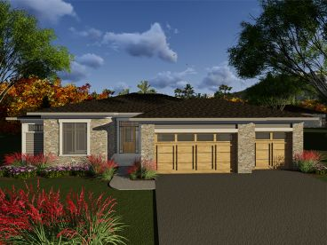 Contemporary House Plan, 020H-0407