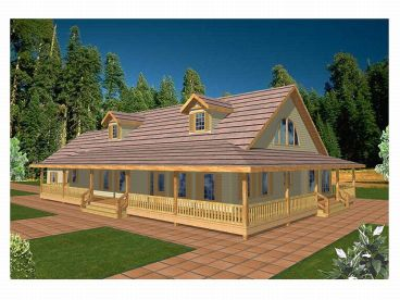 Country House Plan, 012H-0008