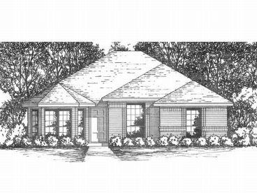 Narrow Lot House Plan, 015H-0004