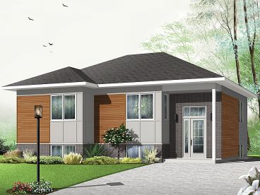 Split-Level Home Design, 027H-0327
