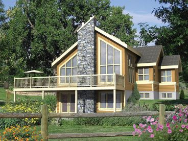 Mountain Home Plan, Left, 072H-0196