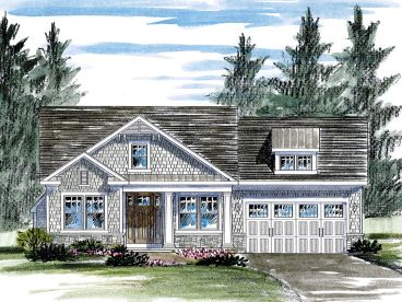 Empty-Nester House Plan, 014H-0098