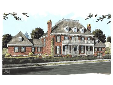 Plantation House Plan, 059H-0090