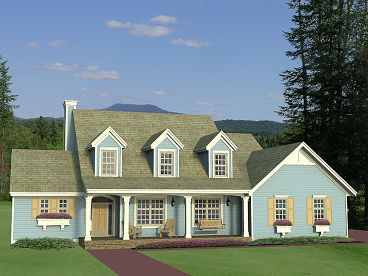 Country Home Plan, 023H-0166