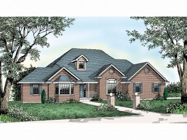Ranch Home Design, 026H-0084