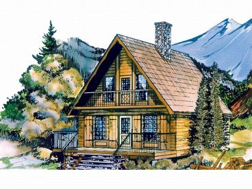 Mountain Chalet Home Plans Mountain Chalet Plan, 032H-0005. 1st Floor Plan