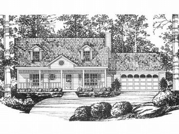 Two-Story House Plan, 015H-0016