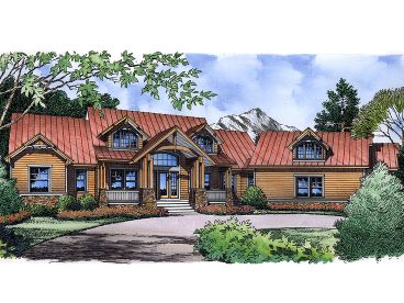 Two-Story House Plan, 043H-0205
