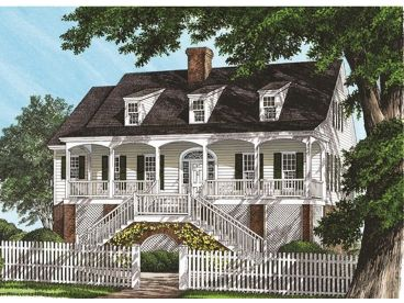 Coastal House Plan, 063H-0108