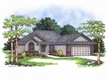Ranch House Plan, 020H-0030