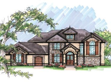 European House Plan, 020H-0224
