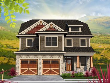 Craftsman House Plan, 020H-0369
