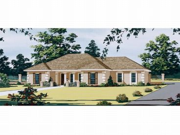 Florida Style Home Plan, 021H-0084