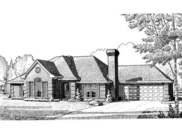 Traditional House Plan, 054H-0007