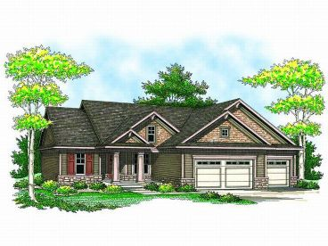 Arts & Crafts Home Plan, 020H-0150