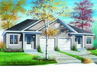 Pics for one story duplex house plans for Single story duplex