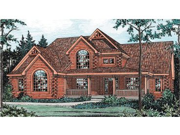 Luxury Log House Plan, 031L-0011