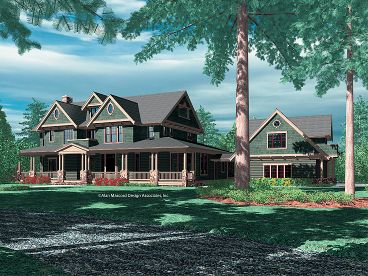 Country Craftsman House, 034H-0132