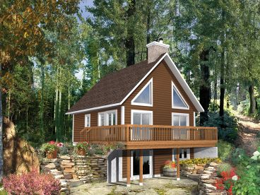 Mountain House Plan, Right, 072H-0205