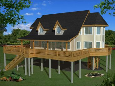 Coastal House Plan, 012H-0175
