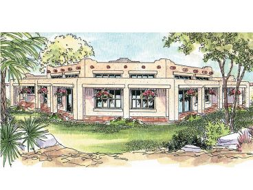 Southwestern Home Plan, 051H-0056