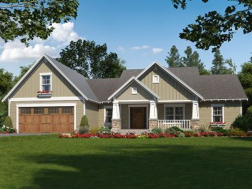 Craftsman Home Design, 001H-0233