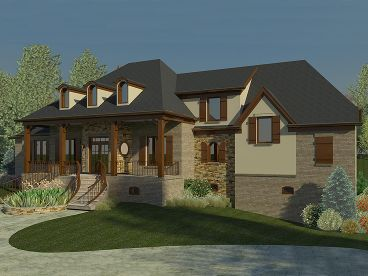 Luxury European Home, 006H-0156