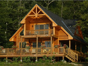 Vacation house plans 3 bedroom two story home design for Mountain vacation house plans