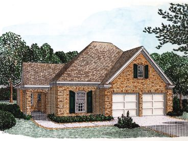 Ranch House Plan, 054H-0012