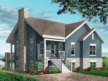 Waterfront House Plan, 027H-0395