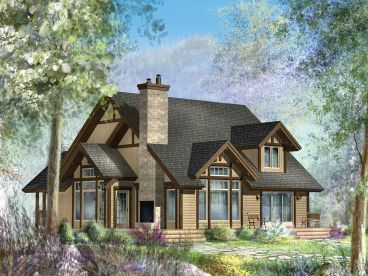 Two-Story House Plan, Rear, 072H-0182