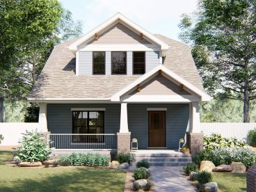 Bungalow House Plan, 050H-0096